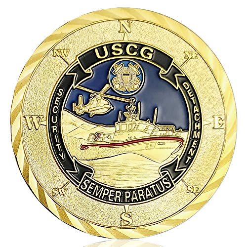 U.S. Coast Guard Challenge Coin Commemorative Military Veterans Collectibles Gift