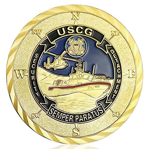 Us Coast Guard Challenge Coin - U.S. Coast Guard Challenge Coin Commemorative Military Veterans Coin