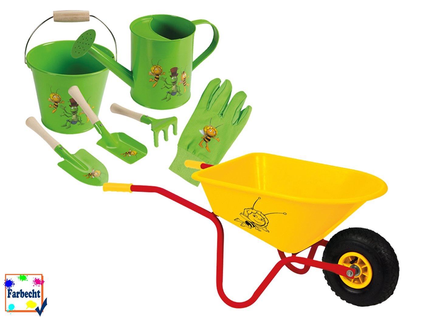 VELLEMAN Gartenspielzeug-Set mit Schubkarre -DIE BIENE MAJA-