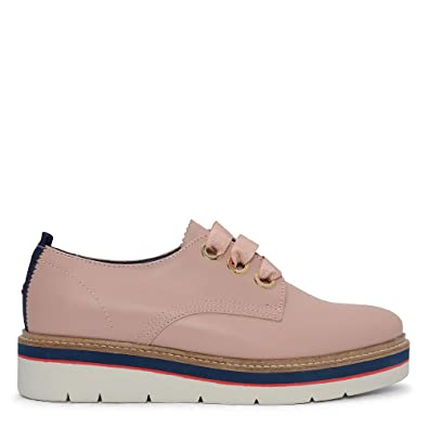 15e4ddf42b564b Tommy Hilfiger Manon 4a Contrast Platform Brogue in Pink - Size 37 ...