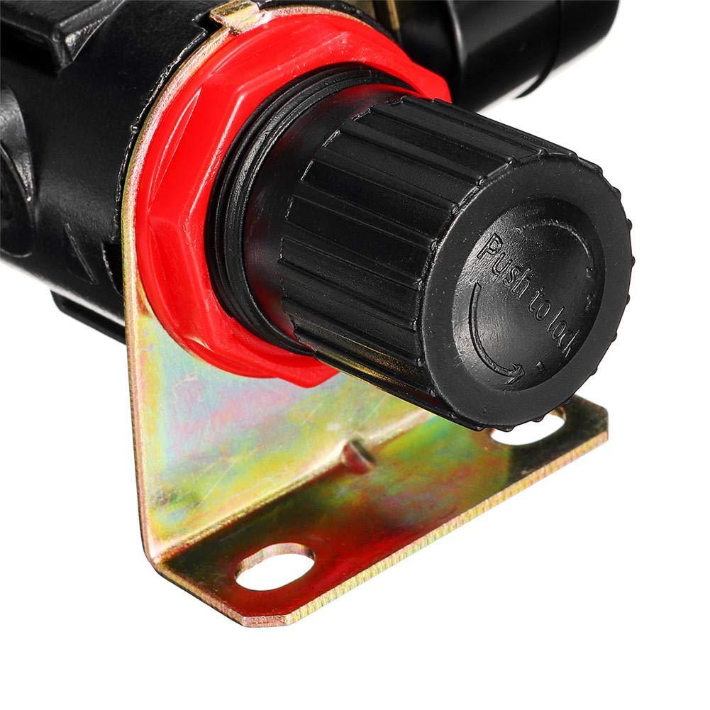 didatecar Druckluft Filter Wartungseinheit Druckminderer 1//4 Regler F/ür Kompressor Schnellkupplung Preciva EU-Standard Druckregler Druckregelventil Druckschalter Regelventil
