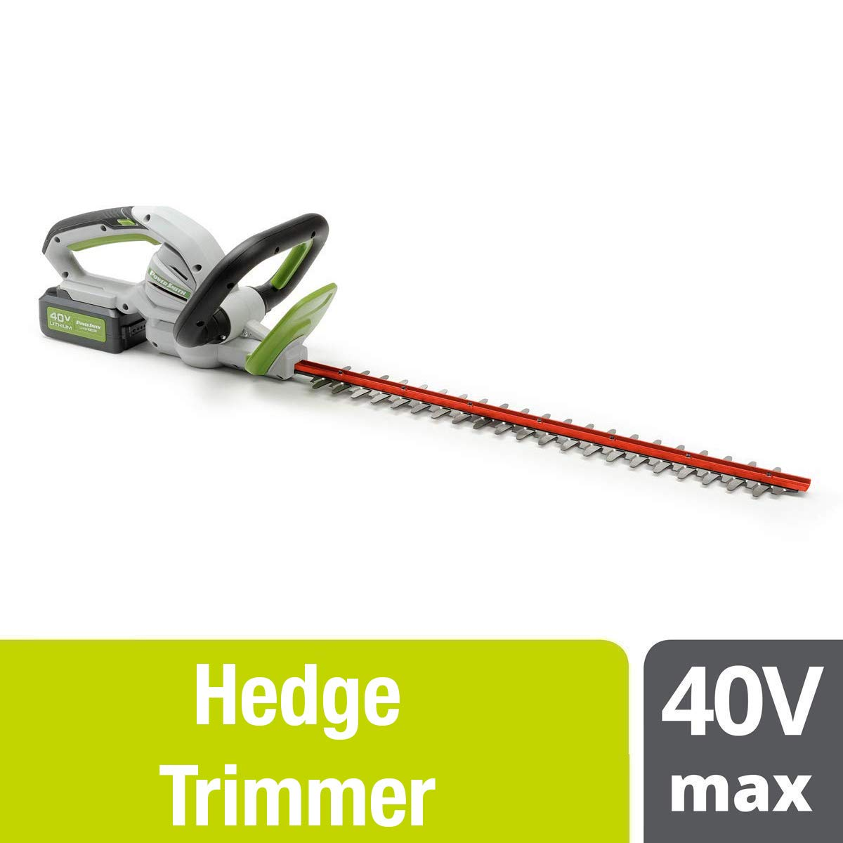POWERSMITH 40V 24 Inch Max Cordless Battery Powered Electric Hedge Trimmer