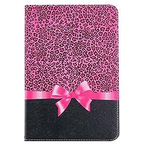 kkfine iPad 2iPad 3iPad 4caso, iPad 2iPad 3iPad 4cover, Rosa Flores estilo patrón soporte funda de piel sintética con tapa para Apple iPad 2iPad 3iPad
