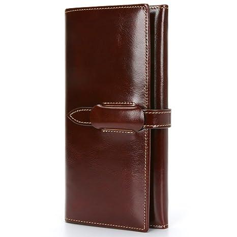 Carteras de Mujer Grande Monederos Mujer Fashion Gran Capacidad RFID Bloqueador Billeteras Mujer para Tarjetas con Caja de Regalo