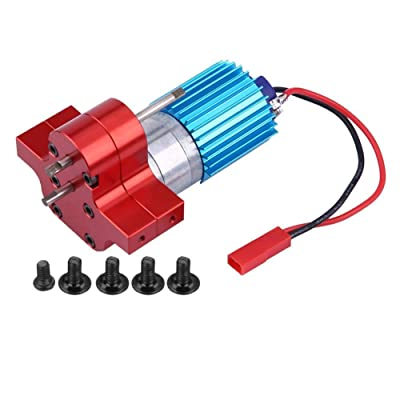 Speeds Change Gear Box Metal Gearbox with 370 Brush Motor Heatsink Mount Base for WPL 1633 RC Car (WPL1633R-Red): Home & Kitchen