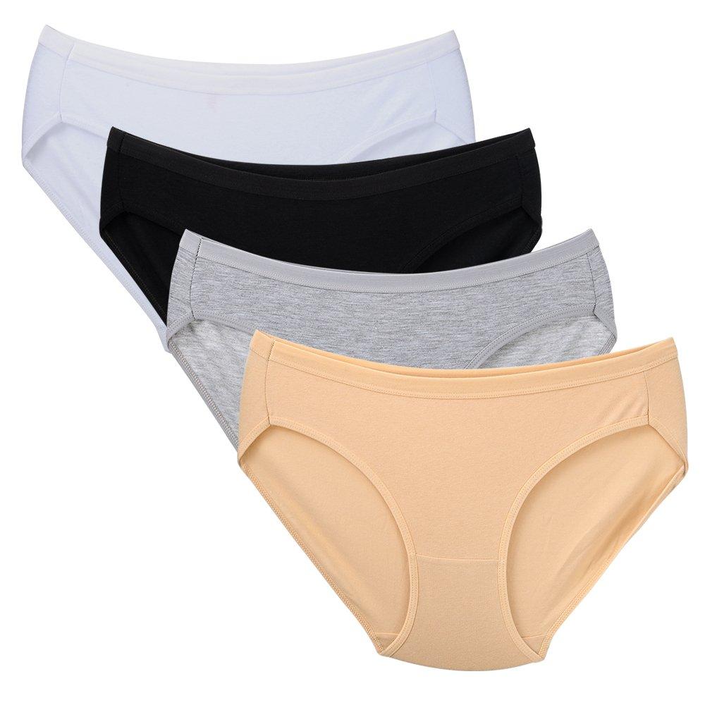 Closecret Women's Multi-Pack Comfort Cotton Stretch Bikini Panty