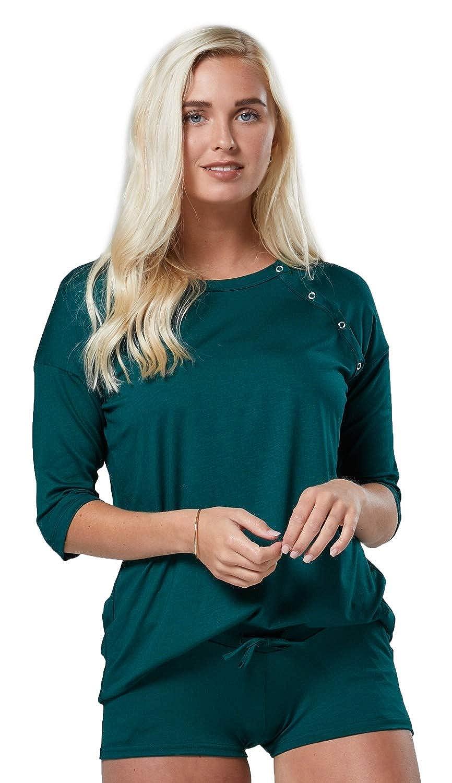 HAPPY MAMA Women's Maternity Breastfeeding Nursing Pyjamas Short Pants 1080