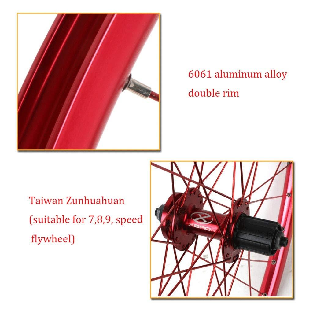 11 Vitesses ZNND 26 Pouces V/élo Roue Arri/ère Ultra L/éger VTT Roue Arri/ère Double Paroi Alliage Daluminium Compatible 8 10 9