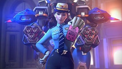 Amazon Com Overwatch D Va Poster Character Policemen Prints Wall