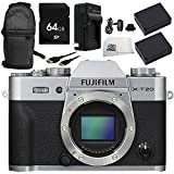 Fujifilm X-T20 Mirrorless Digital Camera (Body Only, Silver) 8PC Accessory Bundle – Includes 64GB SD Memory Card + 2x Replacement Batteries + MORE