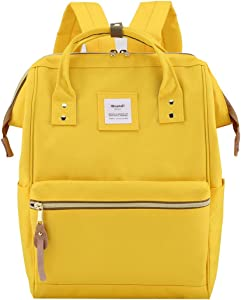 Himawari Travel School Backpack with USB Charging Port 15.6 Inch Doctor Work Bag for Women&Men College Students(900D-USB-Yellow)
