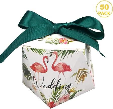 Dehots - Caja de 100 piezas para dulces, bodas y novios, caja de regalo, regalo para invitados (50 pares), 03-50pcs: Amazon.es: Hogar