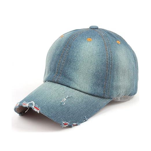 675d014864b128 Unisex Denim Baseball Caps Vintage Style Plain Caps Adjustable Strap  Baseball Hat 1C