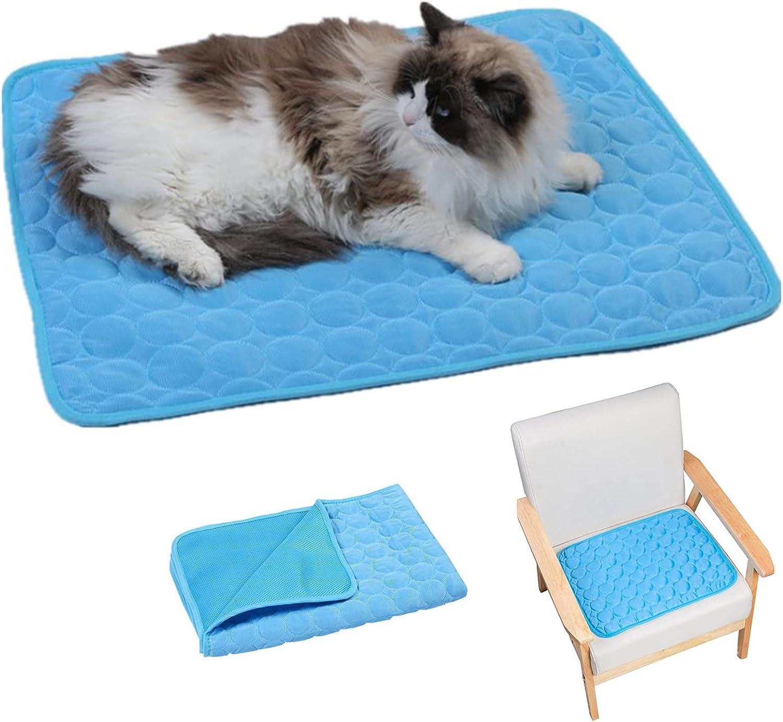 Alfombra Refrescante para Perros y Gatos Alfombrilla De Hielo para Mascotas Alfombrilla De Enfriamiento para Mascotas La Esterilla Refrescante Se Puede Usar Tanto En Interiores como En Exteriores