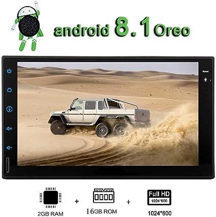 RDS DVR radio GPS Android 8.1/in Precipitare 17,8/cm GPS Car stereo universale doppio DIN auto radio supporto WiFi Bluetooth WiFi