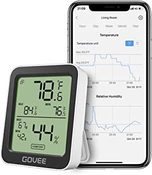 Govee Accurate Indoor Temperature Humidity Sensor Thermometer
