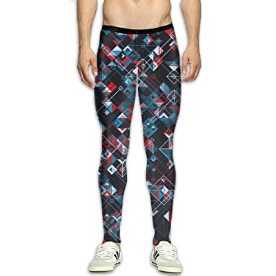 GFGRFDD Compression Pants Men Running Movement Gym Yoga Bodybuilding Multi-Element Printing 3D Printing Leggings