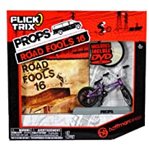 Spinmaster Flick Trix Fingerbike Real Bikes, Unreal Tricks BMX Bicycle Miniature Set - HOFFMAN BIKES with Display Base and DVD Props Road Fools 16