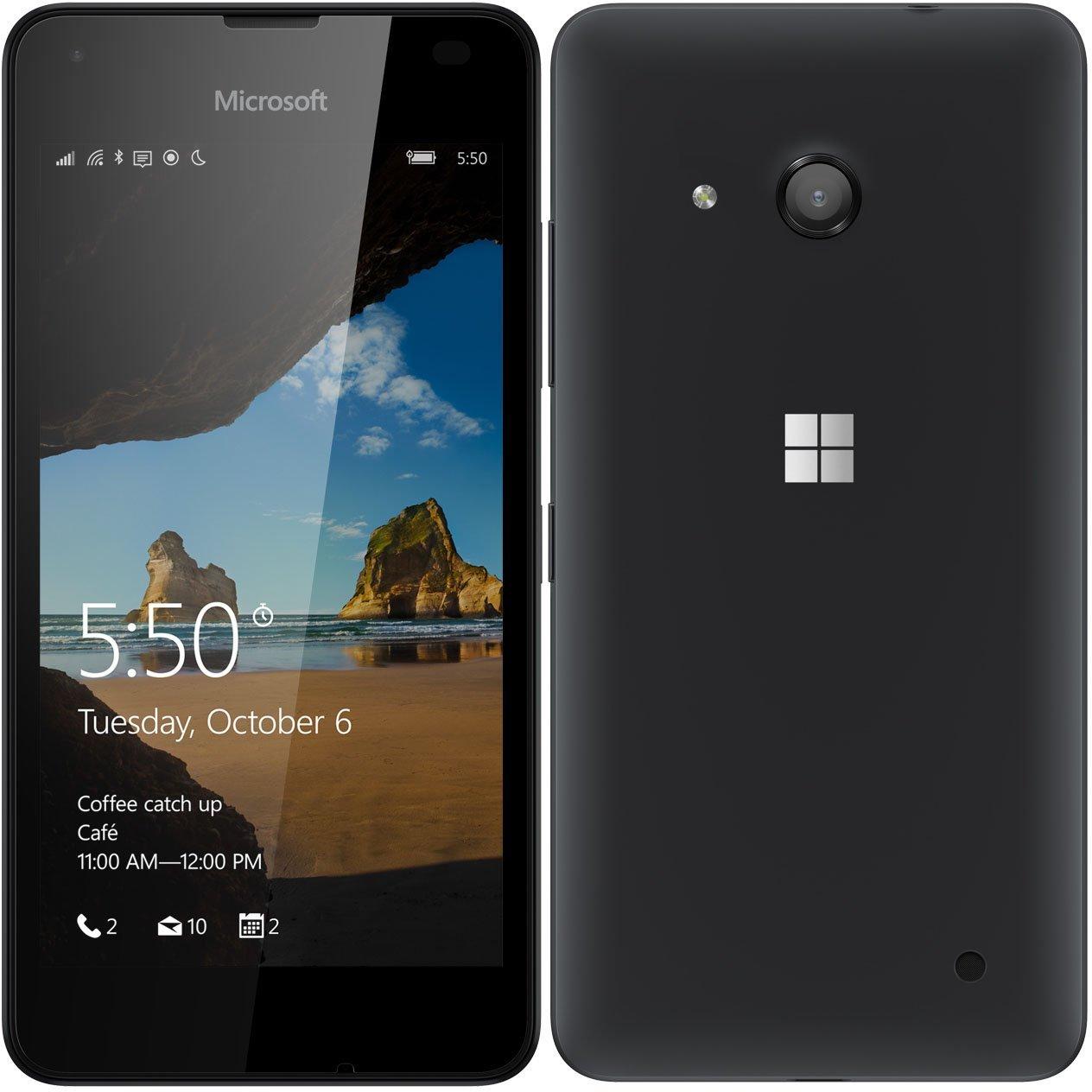 Microsoft Lumia 550 RM-1127 8GB Factory Unlocked 4G/LTE - International Version No Warranty (Black) (Certified Refurbished)