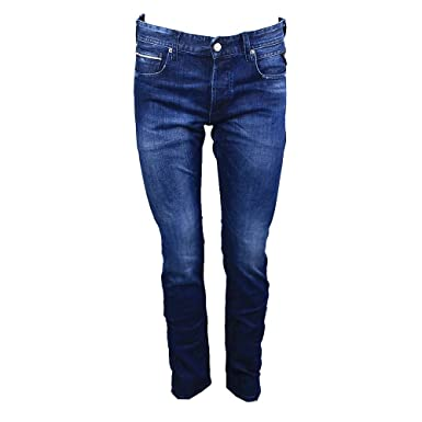 Replay Grover Straight Fit Blue Washed Denim Jeans MA972 31D 130 007 ... b39b53e2b5