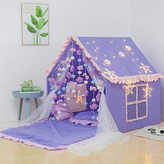 YYFZ Bed Tienda de campaña para niñas de Disney para niños, Tienda de campaña de Castillo de Princesa, Tienda de campaña para niñas, Regalo de cumpleaños, Festival, Color Morado: Amazon.es: Hogar