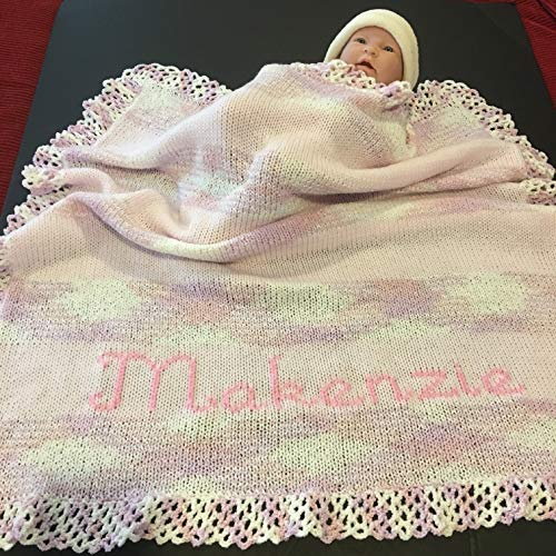 (Personalized knitted baby blanket)