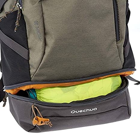 Amazon.com : Quechua NH500 30L HIKING BACKPACK - KHAKI : Sports & Outdoors