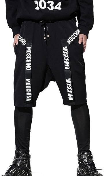 Panegy Harem Pantalones Moda Casual Harem Quinto Pantalón Drop ...