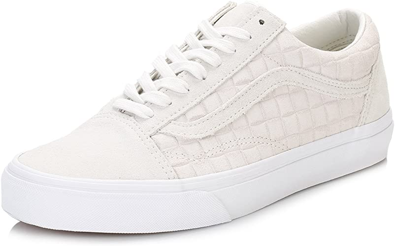 Vans Men's Old Skool Suede Checkers Trainers, White