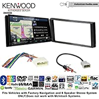 Volunteer Audio Kenwood Excelon DNX994S Double Din Radio Install Kit with GPS Navigation Apple CarPlay Android Auto Fits 2012-2014 Subaru Impreza