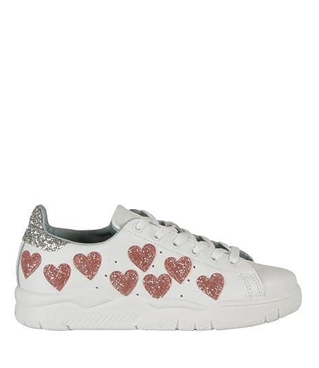bb613891c2751 Chiara Ferragni Sneakers Roger Hearts Bianco Donna MOD. CF1915 36 ...