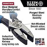 Side Cutter Linemans Pliers, High Leverage, 9-Inch, Streamlined Design, Color Coded Klein Tools J213-9NE