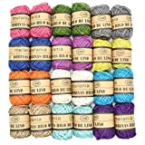 Renashed Natural Twine 24pack 12 color Random 3 Ply Gift Wrapping String Best Arts Crafts Gift Twine Christmas Twine Industrial Packing Materials Durable String for Gardening Applications