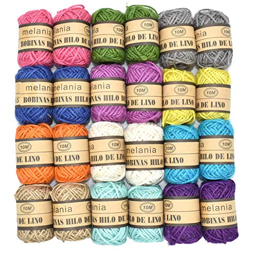 Renashed Natural Twine 24pack 12 color Random 3 Ply Gift Wrapping String Best Arts Crafts Gift Twine Christmas Twine Industrial Packing Materials Durable String for Gardening Applications by Renashed