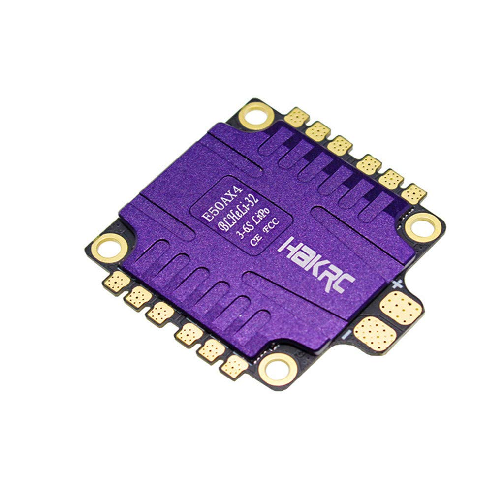 Giokfine 2019 4x50A 4IN1 ESC 3-6S BLHeli_32 5V 3A BEC Dshot1200 for RC HAKRC Drone FPV by Giokfine (Image #3)