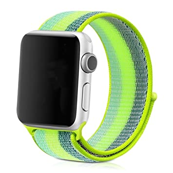 zhuisui Correa de repuesto para Apple Watch, tejido suave y transpirable de nailon para Apple