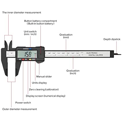 amazon com electronic digital caliper, plastic vernier caliper Torque Wrench Diagram