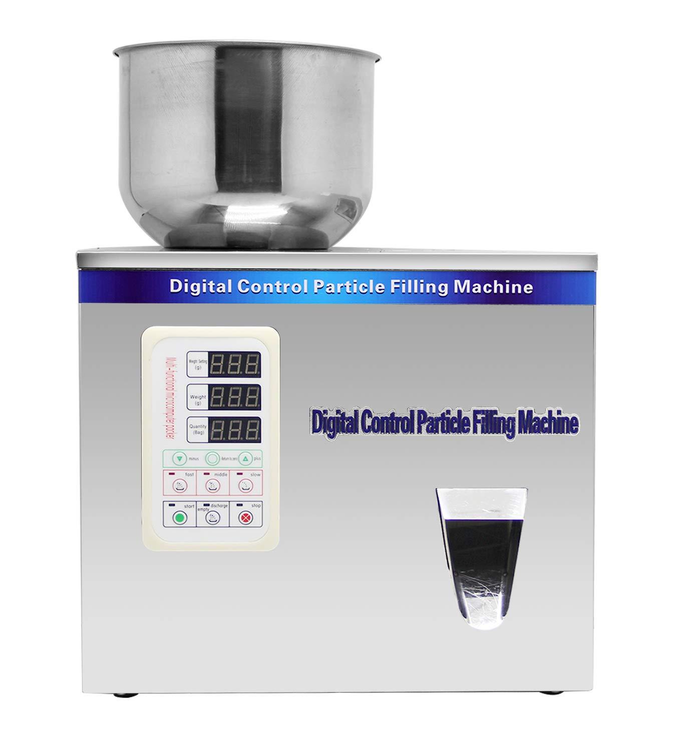 Hanchen Powder Filling Machine 1-50g Particle Weighing Filling Machine Automatic 110v Powder Filler for Tea Seeds Grains Powder