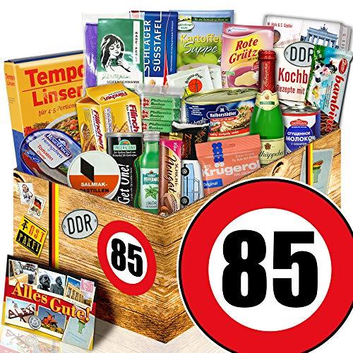 Spezialtiäten Geschenkset / DDR Box / Zahl 85 / Geschenk Korb Oma
