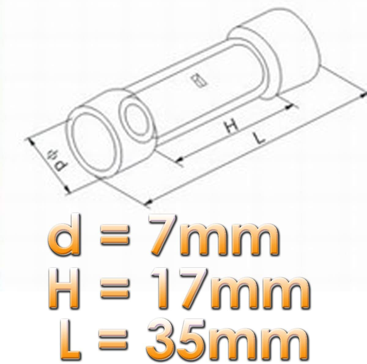 10x Stoßverbinder schrumpfbare Kabelverbinder 0,5 bis 1,5mm² rot