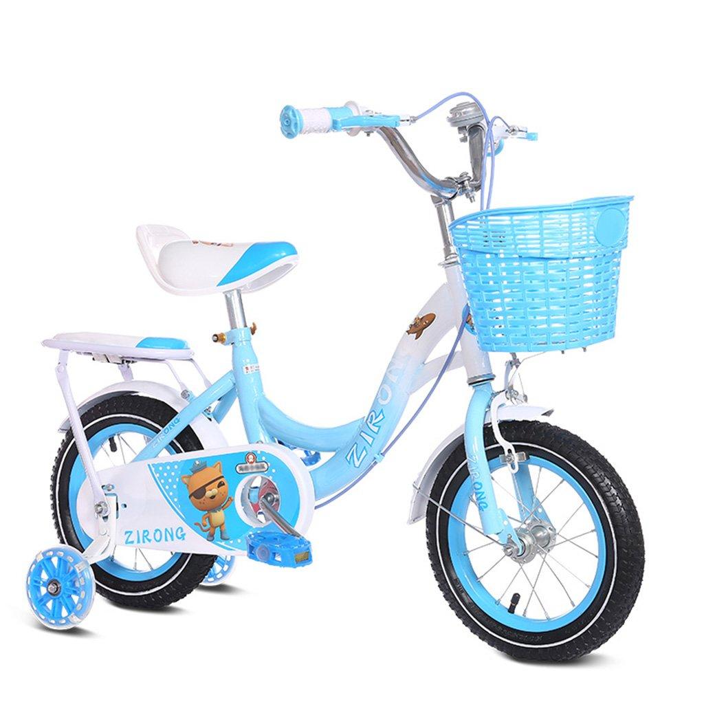 キッズ自転車2-10歳の女の子のベビーカーのプリンセスのモデル12/14/16/18インチ80キロ青 (サイズ さいず : 16inch) B07F2DWST9 16inch 16inch