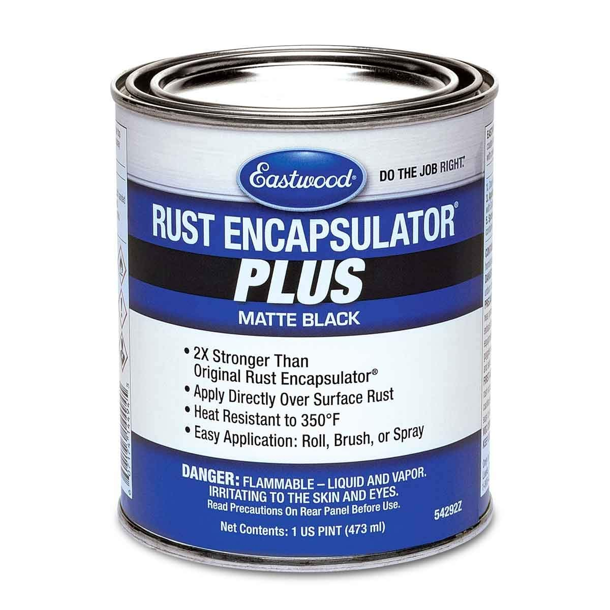 Eastwood Matte Black Rust Encapsulator Plus Pint Long Lasting Durable Finish Heat Resistant