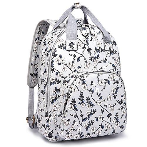 Kono - Bolso mochila para mujer Talla única New Flower Grey