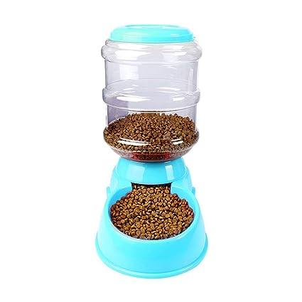 DoMoment Alimentador automático de Mascotas 3.5L Dispensador de Alimentos Bowl Herramientas de alimentación de plástico