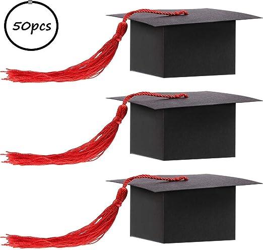 elegantstunning - Caja para Dulces, 50 Unidades, Color Negro con ...