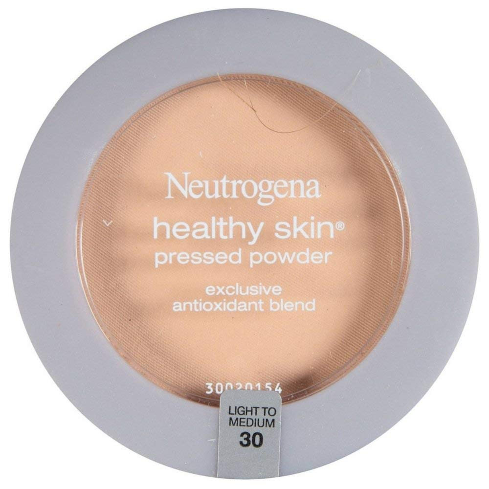 Neutrogena Healthy Skin Pressed Powder, Light to Medium [30] 0.34 oz (Pack of 4)