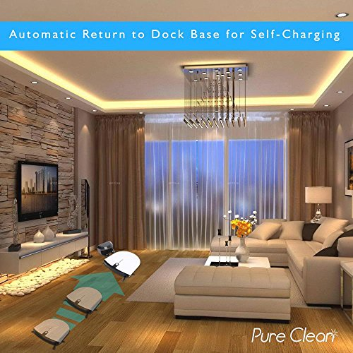 Cleaner - Robotic Self Low Home Cleaning with Water Tank - Spot Cleans and Pure