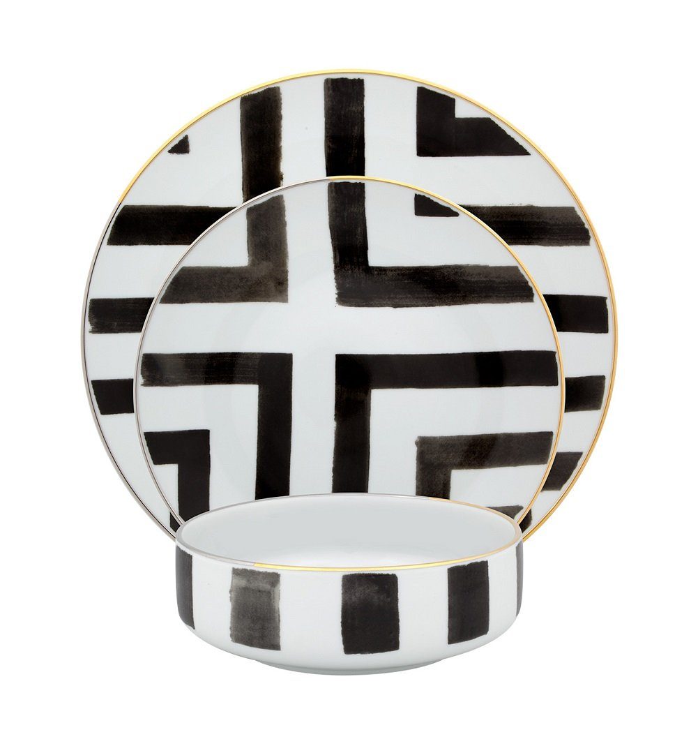Vista Alegre Sol y Sombra Four Piece Place Setting by Christian Lacroix by Vista Alegre