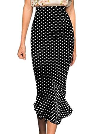 VfEmage Women's Vintage High Waist Wear To Work Bodycon Mermaid ...