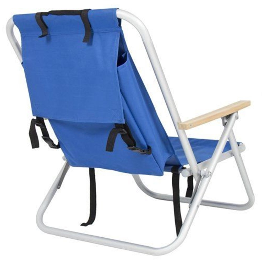 NEW sudden comfort folding chair Backpack Beach Chair Folding Portable Chair Blue Solid Co